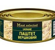 Паштет Meat Selected 100г Вершковий (свинина) ключ ж/б (1/48)***