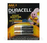 Батарейка Duracell ААА мини-пальчик в пленке 2шт (1/168)