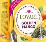 """Чай """"LOVARE Delicatea"""" 15п*2г """"Golden Mango"""" Золотой Манго Пирамидка   ЛОЖОКА (1/12)"""