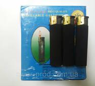 Зажигалка черный каучук (1*50)