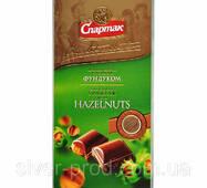"""Шоколад молочен с цельным фундуком 90г """"СПАРТАК"""" (1/20 или 17)"""