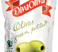 Оливки зелены без косточки 160г DIVA OLIVA м/в (1/24)