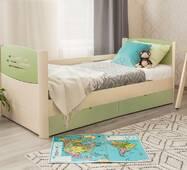 Детская односпальная кровать Марго премиум с выдвижными ящиками