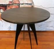 Журнальний кавовий стіл круглий в стилі лофт