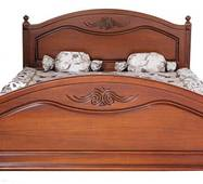 Двоспальне ліжко Елізабет з масиву дуба