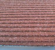 Коврик полипропиленовый на основе ПВХ с ворсом коричневый ZG STRIP-120x180-BROWN