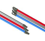 Кий стальной с пластиковым покрытием, с резьбой, длина 110 см Горизонт K-GOR110
