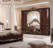 Элитная классическая спальня Афина орех