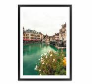 """Постер """"Венеція"""". із склом антивідблиску  596x840 мм у білій рамці"""