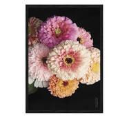 """Постер """"Квіти *"""" без скла 596x840 мм в чорній  рамці"""