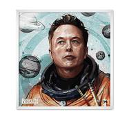 """Постер """"Илон Маска"""" без скла 30 x 30 см у  білій рамці"""