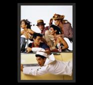 """Постер """"Друзі"""" із склом антивідблиску  596x840 мм в чорній рамці"""