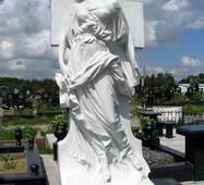 Ритуальная скульптура из белого мрамора, девушка