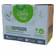 Екопорошок Green Max концентрат для прання білих і кольорових речей, 1000 г