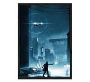 """Постер """"Біжить по лезу"""" з антивідблиском  склом 297x420 мм в чорній рамці"""