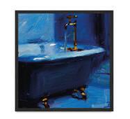 """Постер """"Blue"""" без скла 30 x 30 см в чорній рамці"""