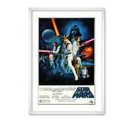 """Постер """"Star Wars poster"""" із склом антивідблиску  596x840 мм у білій рамці"""