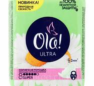 Прокладки Ola! Ultra Super 5крапель Ромашка 8шт (1/24)