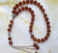 Четки мусульманские натуральный янтарь 33 бусины
