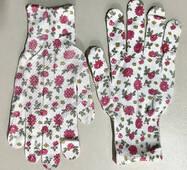 Тонкие летние рабочие женские перчатки N-10A, с точкой