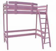 """Кровать-чердак """"Снови"""" розовый"""