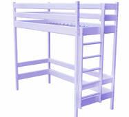 Кровать чердак для девочки сиреневая (желтая, голубая, салатовая)