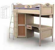 Ліжко-горище і стіл під ліжком   шафа Angel An - 16-3