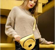 Жіноча сумка бананка кроссбоди Sambag  SGS жовтий