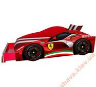 Кровать машина Ferrari Элит 70x150 + ящик мягкая