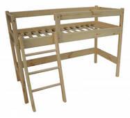 Двухъярусная кровать чердак из сосны 122 см