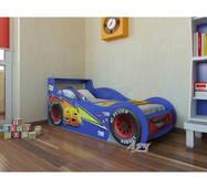 """Детская кровать-машина """"Молния Маквин"""", синяя"""