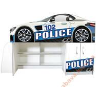 Ліжко з шафою і полицями Police