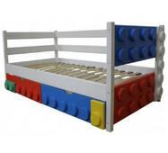 Детская односпальная кровать Легго-1 деревянная