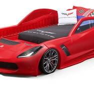 Кровать машина красная CORVETTE 127х257х61см step2