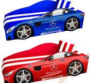 Кровать машина Mercedes Элит 80х170cм мягкая