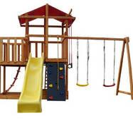 Ігровий комплекс для вулиці Babyland - 5 для дітей. Гірка Гойдалки Скалодром Замок