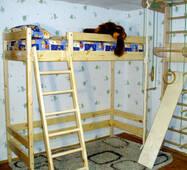 Двухъярусная кровать чердак высотой - 187см