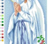 Схема для вышивки бисером Барвиста Вышиванка Мария непорочного зачатия 22х45 (ТО037ан2245)