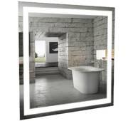 Зеркало Альфа 80 см с LED подсветкой Аквародос
