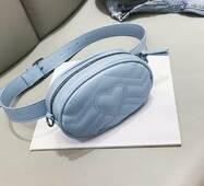 STK Поясна блакитна сумка, бананка без ланцюжка