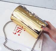 STK Золота лакова сумка кроссбоди