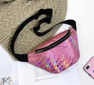 STK Поясна сумка рожева з декором