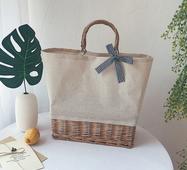 STK Плетена сумка з ротанга прямокутна  світла