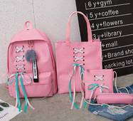STK Рюкзак, сумки, пенал, 4в1 (набір) рожевий