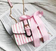 """STK Сумка """"Краплі"""",кожзам рожевий"""