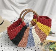 STK Плетена кольорова сумка