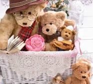 """Подарочные пакеты """"Медвежья семья"""" 16 х 27 см  (6 шт/уп)"""