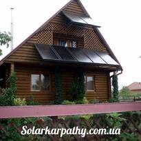 7 солнечных коллектров для нагрева бассейна, г.Ужгород