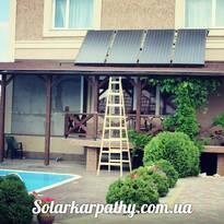 4 солнечных коллектора (250 литров ГВС и поддержка отопления), г.Ужгород
