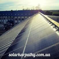10 кВт (40 солнечных батарей), 20 солнечных коллекторов (1000 литров ГВС и отопления), с.Карачин, Виноградовский район